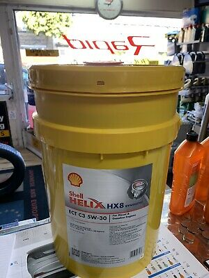 Long life Shell Helix ECT C3 5W-30 20 Litre VW 504/507.00 MB Fully Engine Oil