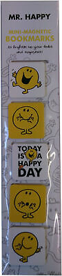 Mr. Men and Little Miss Set of 5 Mini Magnetic Bookmarks - Mr. Happy