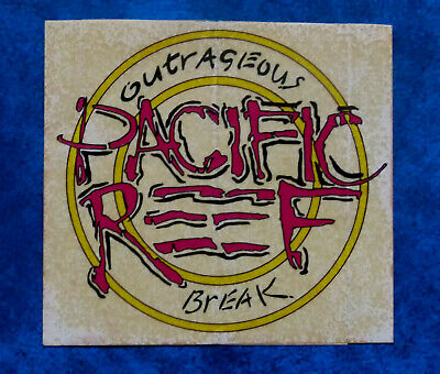 PACIFIC REEF .. Original Vintage  1980,s  SURFING sticker
