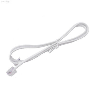 03EA 1M RJ11 To RJ11 Telephone Phone Cable Lead 6P2C For ADSL Router Modern Fax^