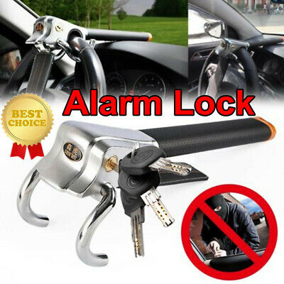 Foldable Vehicle Car Steering Wheel Security Lock With 3 Keys Anti Theft Devices