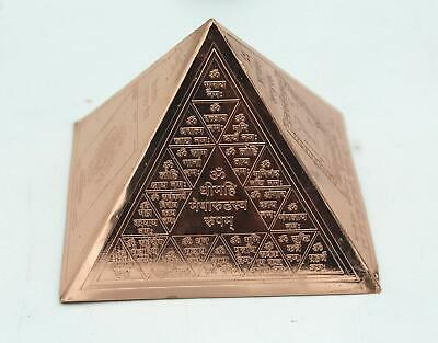Vastu copper Pyramid Yantra Copper Pyramid With Wealth Yantra - free ship