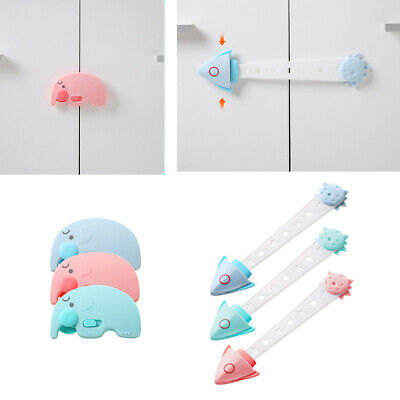 3 PCs Cabinet Door Drawers Refrigerator Toilet Safety Locks for Baby Kids Safety