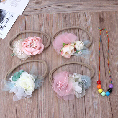 Newborn Photography Props Infant Shooting Girls Photo Props Baby Floral Headband