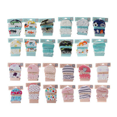 2Pair Baby Anti Scratching Gloves Protection Newborn Face Cotton Scratch Mittens