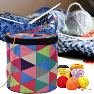 DIY Craft Storage Bag Yarn Wool Crochet Knitting Woven Needles Case CARRY Tote