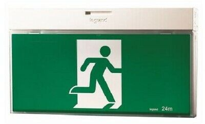 Legrand EMERGENCY LED LIGHT G2 EXIT SIGN Running Man, Axiom Slide Connect, White