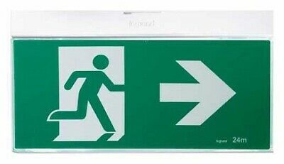Legrand EMERGENCY LED LIGHT G2 EXIT SIGN Running Man, Axiom Slide Connect,Silver