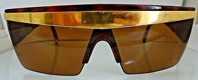 a3275b3753ca3 Gianni Versace UPDATE Sunglasses Brown GOLD Mod 676 Oversized Vintage 80 s