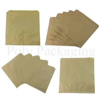 BROWN PAPER BAGS All Sizes for Kids Party Bags Fillers Sandwiches Cakes ANY QTY