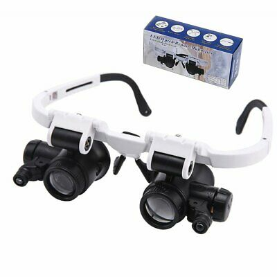 8X/23X Magnifying Eye Glass Magnifier Loupe with LED Light Jeweler Watch Repair