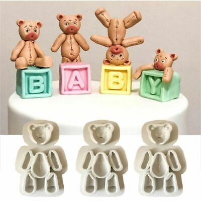 Silicone DIY Handmade Sewing Bear Fondant Mold Chocolate Craft Mould Baking Tool