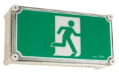 Legrand LED WEATHERPROOF EXIT SIGN LEG684650 2x1W Running Man, IP65 Rated, Green