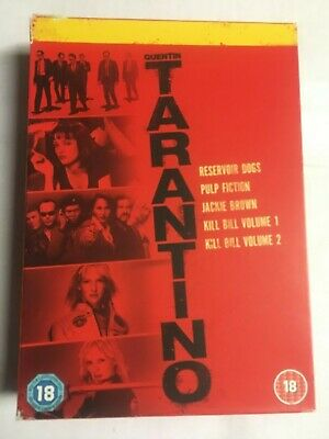 Quentin Tarantino Collection: Reservoir Dogs/Pulp FIction/Kill Hill... VG H4/G2