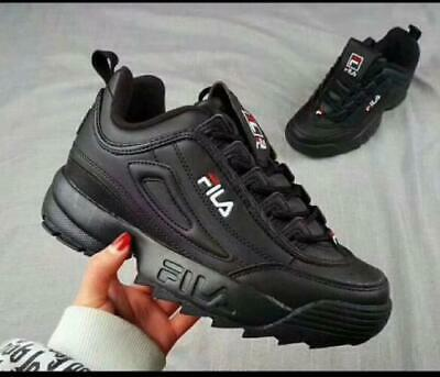 size 40 989b4 96a76 FILA Womens Mens Disruptor II 2 Sneakers Athletic Shoes Running Walking  Sports A