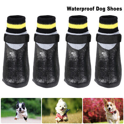 4x Waterproof Protective Shoes Pet Dog Puppy Snow Boots Winter Warm Rain Booties