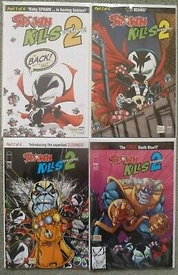 "SPAWN KILLS EVERYONE 2 #1-4 ""A"" SET..TODD McFARLANE..IMAGE 2019 1ST PRINT..NM"