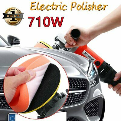 710W Variable 6-Speed Electric Polisher Buffer Waxer Car Truck Van Boat Sander
