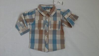 baby boys checked shirt size 12-18 months BNWT