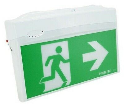 Pierlite STINGRAY EMERGENCY EXIT SIGN LED LUMINAIRE 240V Quick Connect