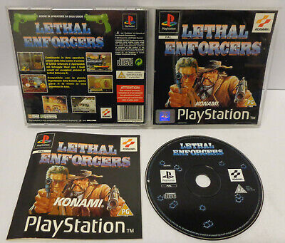 Console Game Gioco SONY Playstation PSOne PSX PS1 PAL Konami - Lethal Enforcers
