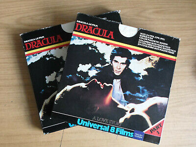 Super 8mm 2X400 DRACULA. Frank Langella horror.