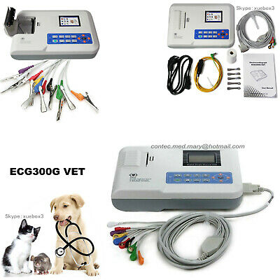 Veterinary Digital 3-Channel ECG/EKG Machine electrocardiograph, ECG300G, CONTEC