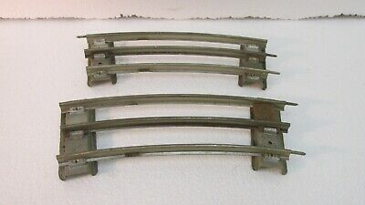 Lot Of 2 Lionel Short Standard Gauge Scale Curved Train Track Pieces tr1189