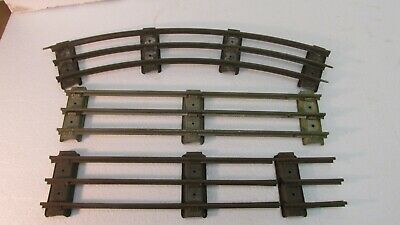 Lot Of 3 Mixed Lionel Standard Gauge Curved & Straight Train Track Pieces tr1188