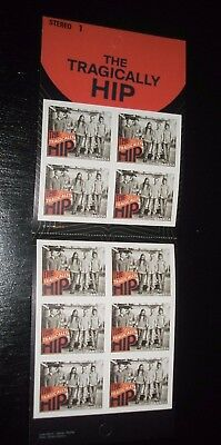 """The Tragically Hip Canada stamp booklet 10 """"p"""" 2656 MNH Gord Downie  bkt 543"""