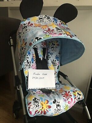 Bugaboo Bee Plus 3 5 Non Extendable Hood Mickey Mouse Waterproof Blue