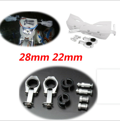 White Universal Motorcycle 28mm 22mm Handlebar Protection Handguard Protect Hand