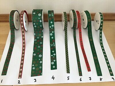 Decorative Ribbon Christmas Ribbon Various Selection  Sold by the metre