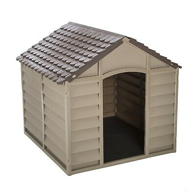 New Plastic Easy Build Dog Kennel - Brown Dog-health Cage