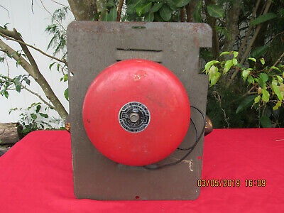 Vintage Ademco Wall Alarm Model AD-8  6VDC - Fire -School - BURGLAR~ WORKS GREAT