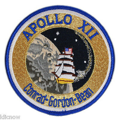 Apollo 12 Mission Embroidered Patch (Official Patch) 10cm Dia approx