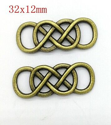 Retro Ancient bronze Viking knot Crafts Charms connector Make Jewelry 22pcs