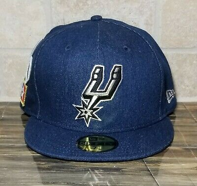 best service cf47a 57fed 2018 NBA Draft Cap New Era 59Fifty Blue Denim San Antonio Spurs Men s Size  7 7