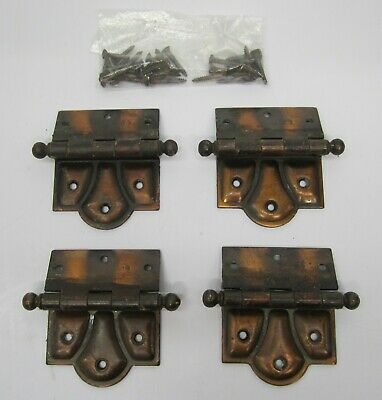 Set 4 Surface Mount Stanley Sweetheart? Steel Door Hinges Hardware Japanned Deco
