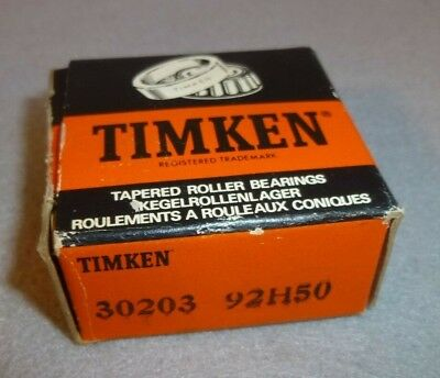 TIMKEN SKF TAPERED Roller Bearing 30203 Full Assembly Cup and Cone