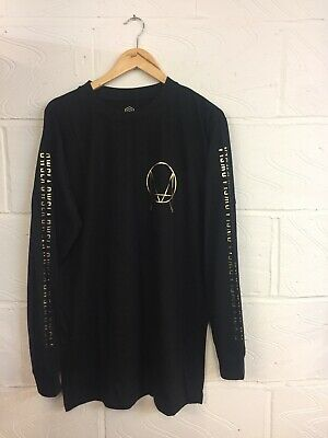Long x Owsla Gold Print Long Slv T Shirt Unisex Sizes-S.M.L Boy London, Skrillex