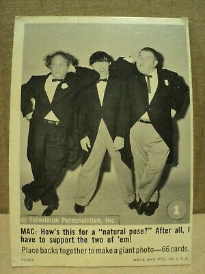 Lot of 3 1966 Fleer Three Stooges Trading Cards #s 1  5 & 13