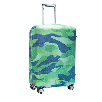 "Camouflage 18""-32"" Luggage Protector Elastic Travel Suitcase Dustproof Cover Bag"