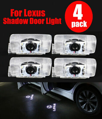 4Pcs Logo LED Door Courtesy Light Ghost Shadow Laser Projector Fit For Lexus