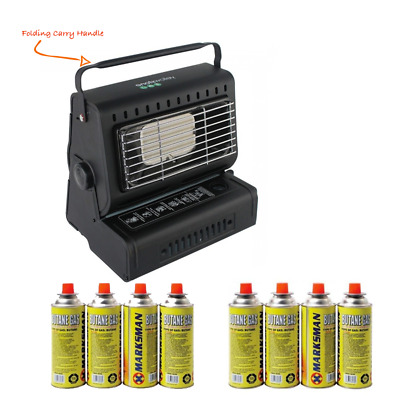 Outdoor Camping Portable Free Standing Fishing Butane Gas Heater + Gas Refills