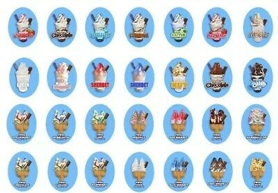 Ice Cream Van Stickers - Full Set
