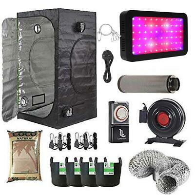 Complete LED Grow Tent Kit with Carbon Filter 80x80x180cm Grow Tent + FREE TIMER