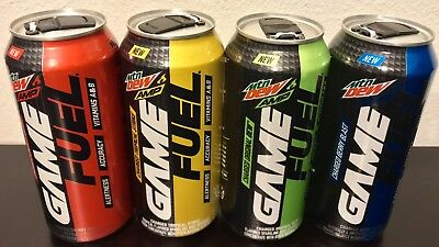 Mountain Dew Amp Game Fuel New Tabs 16 Oz 4 Full Cans