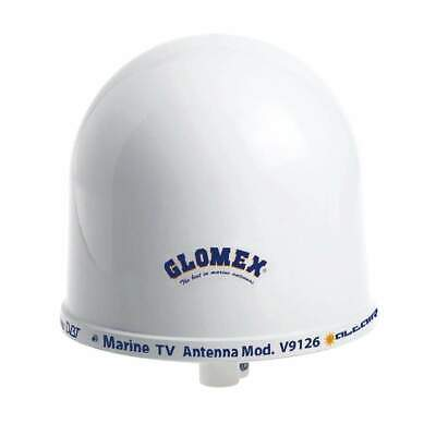 """Glomex 10"""" Dome TV Antenna Auto Gain Control and Mount #V9126AGC"""