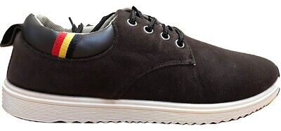 Mens Trainers Shoes Lace Up Casual Fashion Brown Running Walking Bnib